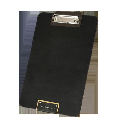 "menu cover CLIPBOARD A4 black PATCH label ""menu"" block sheets clamp basis FASHION BLACK 3.5 th. Insert CHEF BROWN"