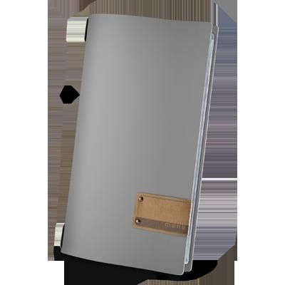 "menu cover 4RE PATCH label ""menu"" 4 envelopes elastic cord FASHION GREY"
