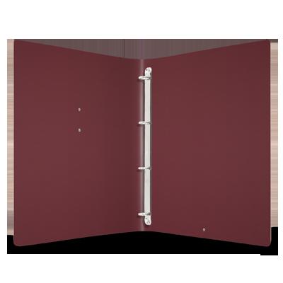 "menu cover MEC GLOSSY label ""menu""RINGs mechanism FASHION BURGUNDY"