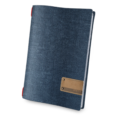 "menu holder A4 PATCH label ""menu"" 4 envelopes elastic cord JUTE JEANS"