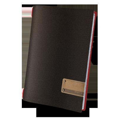 "menu holder A4 PATCH label ""menu"" 4 envelopes elastic cord JUTE BICOLOR"