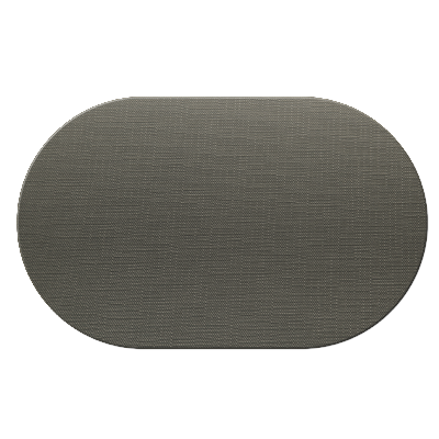 OVAL PLACEMATS 20 x 30 cm single piece JUTE GREY