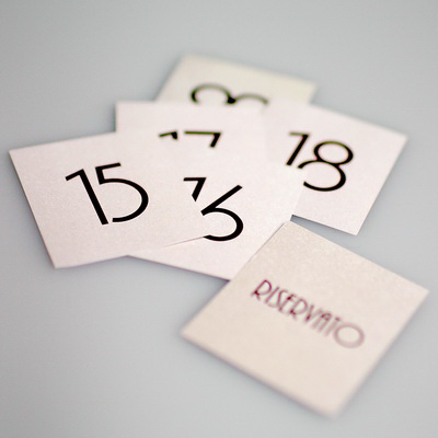 NUMBERS for table SIGN da 1 a 10 10 pcs pack