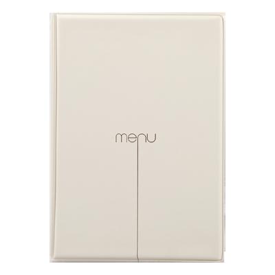 menu cover RISTO A4 menu writing silkscreened 4+2 envelopes SAND