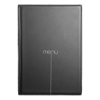 menu cover RISTO A4 menu writing silkscreened 4+2 envelopes BLACK