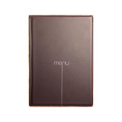 menu cover RISTO A5 menu writing silkscreened 4+2 envelopes CACAO