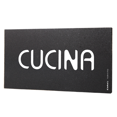 signs CUCINA 8 x 15 cm for the wall