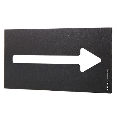 signs ARROW 8 x 15 cm for the wall