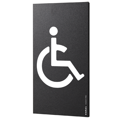 signs DISABLED 8 x 15 cm for the wall