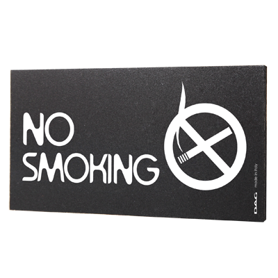 signs NO SMOKING 8 x 15 cm for the wall