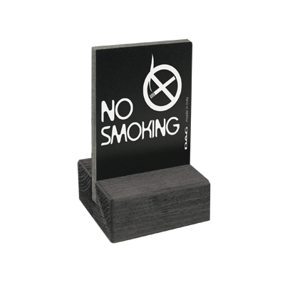 signs NO SMOKING 5,5 x 7,5 cm for the table