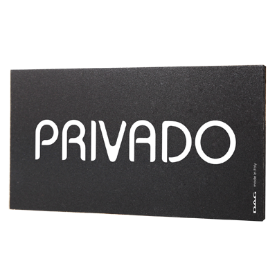 signs PRIVADO 8 x 15 cm for the wall
