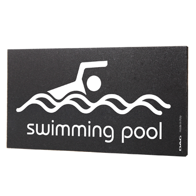 signs SWIMMING POOL 8 x 15 cm for the wall