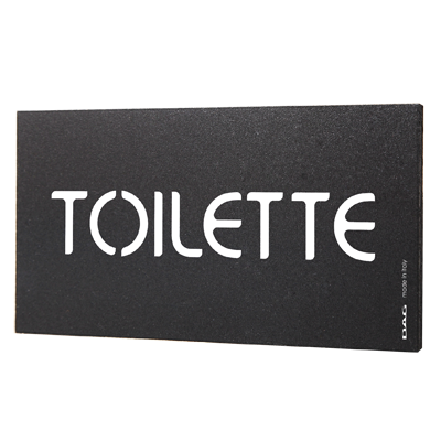 signs TOILETTE 8 x 15 cm for the wall