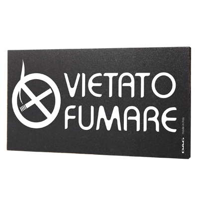signs VIETATO FUMARE 8 x 15 cm for the wall