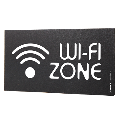 signs WI-FI 8 x 15 cm for the wall