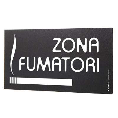 signs ZONA FUMATORI 8 x 15 cm for the wall