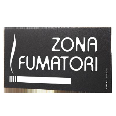 signs ZONA FUMATORI 8 x 15 cm for the wall