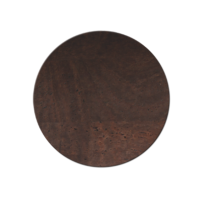 COASTERS 10 cm single piece CORK BROWN th. 2.5