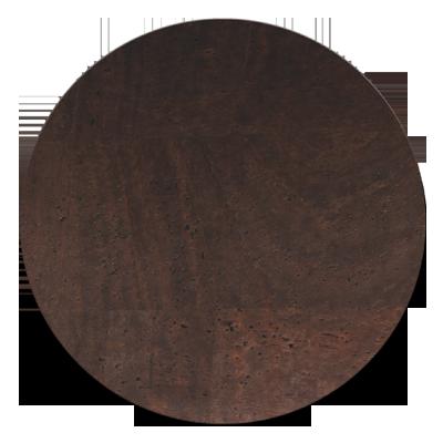 ROUND PLACEMATS 34 cm single piece CORK BROWN th. 2.5