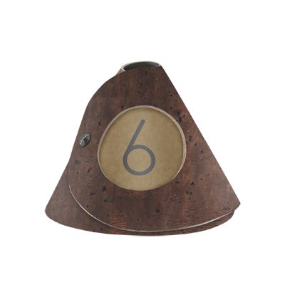 TABLE SIGN single side 10 pcs pack - clips included -NUMBERs not included CORK BROWN th. 2.5