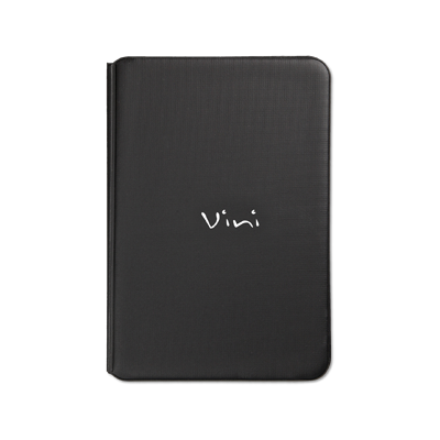 menu cover TOSCANA A5 vini writing silkscreened 6+2 envelopes BLACK TEX